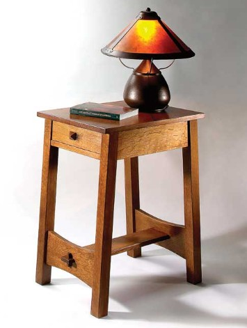 mission style end table woodworking plans