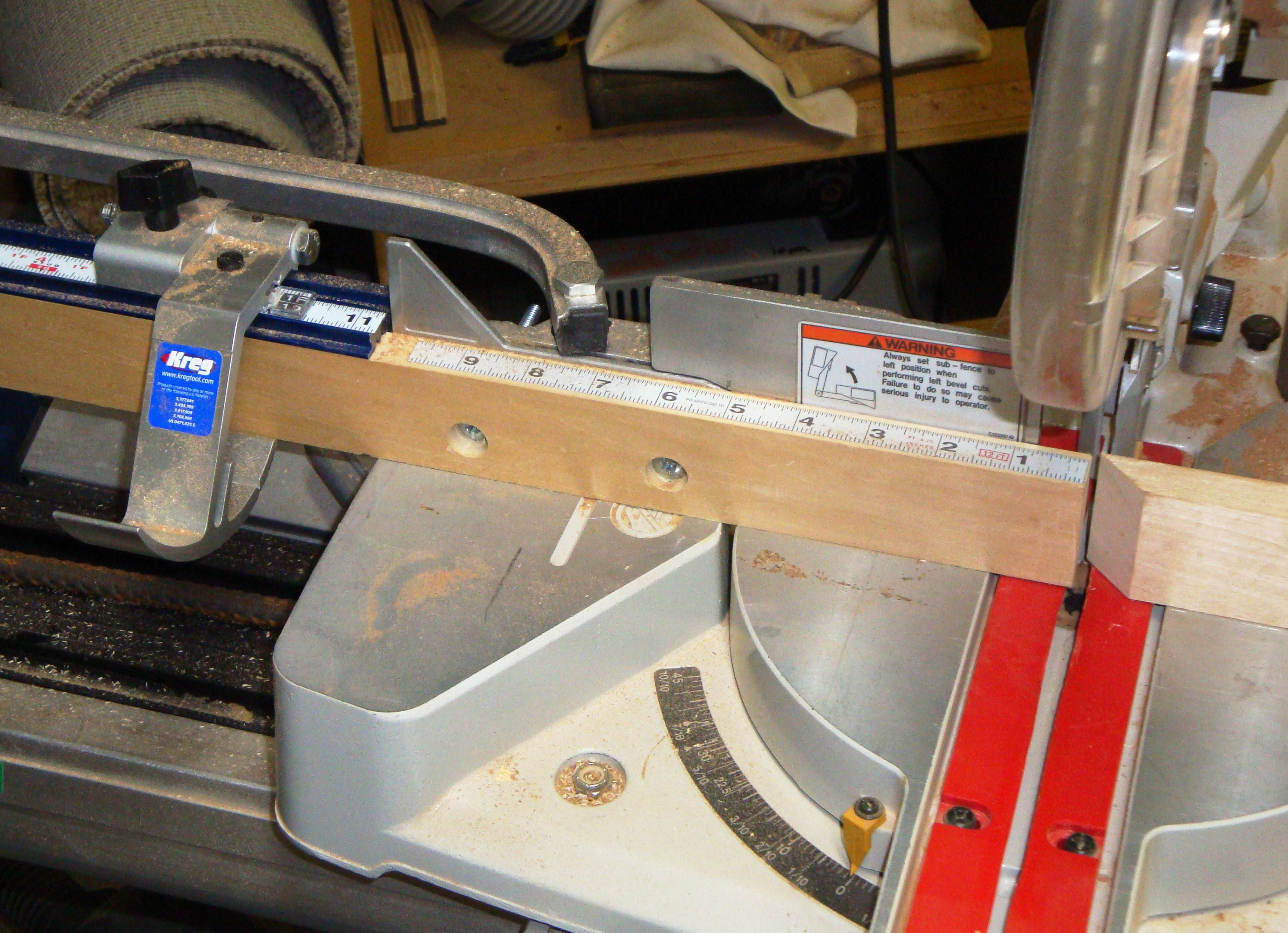 Side trip miter saw fence and back to the top the for Woodworking guide